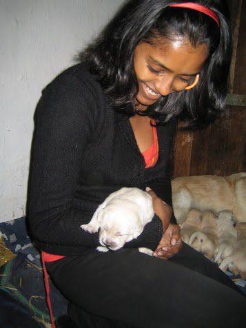Kavi & bambus, den 19. Juli 2007Vores første besøg hos familien.