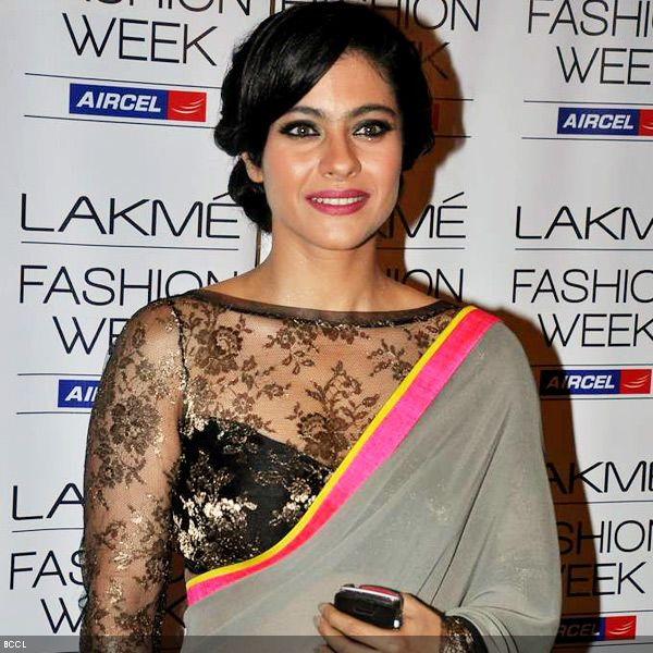 Actress-Kajol-ups-the-glamour-quotient-with-her-chic-hair-do-at-the-Lakme-Fashion-Week-LFW-Summer-Resort-2013-held-at-Grand-Hyatt-in-Mumbai-