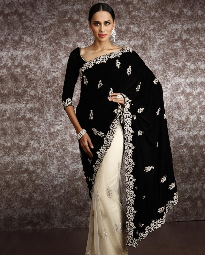 black-Velvet-Pallu-SAREE