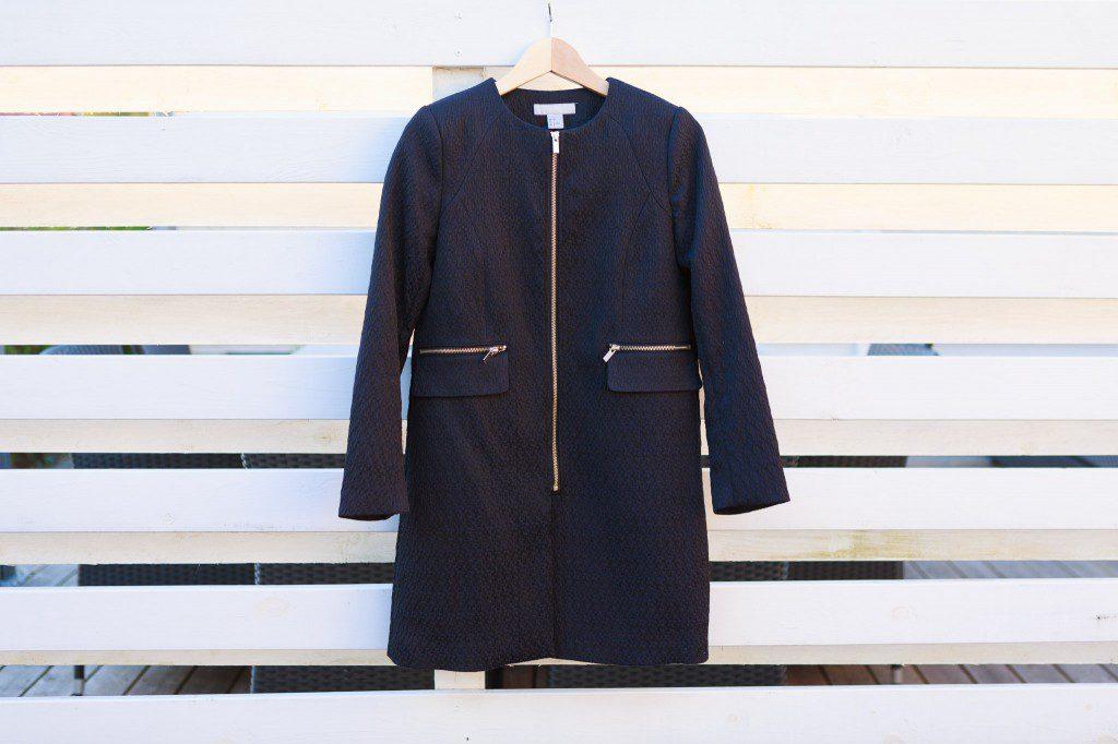 Marineblå HM frakke